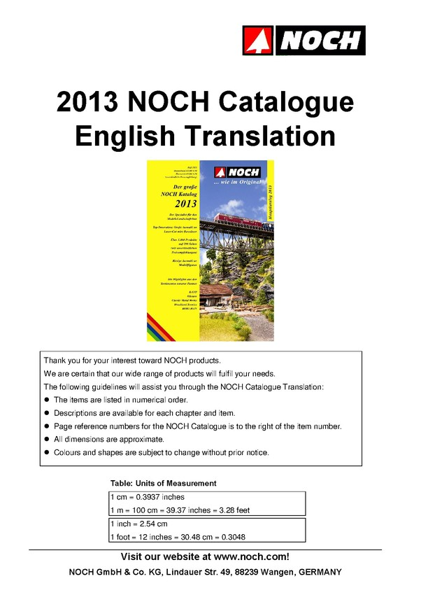 Translation of NOCH Catalogue 2013