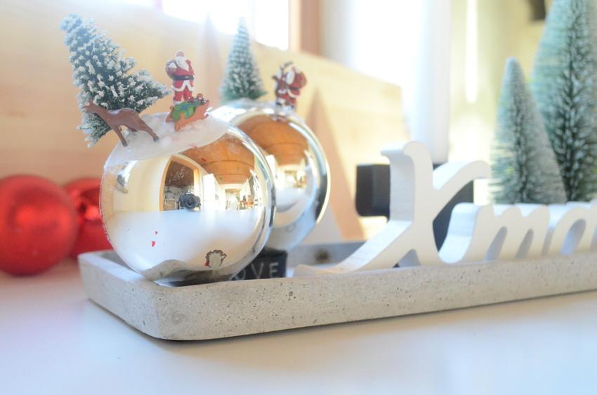 Der Weihnachtsmann auf der Christbaumkugel!