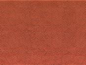 3D-Kartonplatte Biberschwanz rot